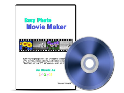 - Easy Photo Movie Maker: Digital Scrapbooking Software. Converts your digital photos into movies; photo slideshows; and albums with special motion effects, music, and captions. Shares them on TV, DVD, PC and Internet. It is as easy as 1-2-3! Works with Windows XP/Vista and Windows 7.