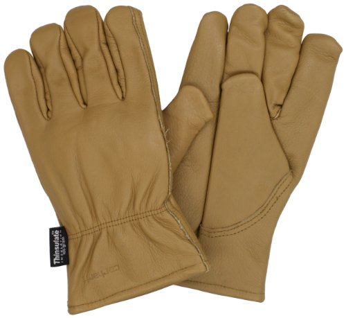 (Carhartt Men's Insulated System 5 Driver Work Glove, Brown, Large)