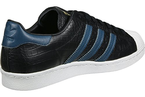 Adidas Originals Mænds Originaler Superstar 80'er Trænere Us11 Sort UbVjn1oO