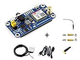 Raspberry Pi GSM/GPRS/GNSS Bluetooth HAT Expansion Board GPS Module SIM868 Compatible With Raspberry Pi 2B 3B Zero Zero W Support Make a Call,Send Messagess,DataTransfer