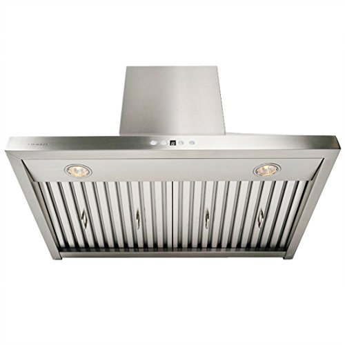 CAVALIERE AP238-PSF-42 Wall Mounted Stainless Steel Kitchen Range Hood 860 CFM, 42'' W by CAVALIERE (Image #3)