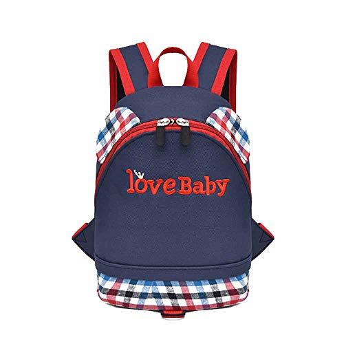Dsood Boy Backpack Toddler,Child Baby Girls Boys Kids Plaid Letter Print Backpack Toddler School Bag,Backpacks