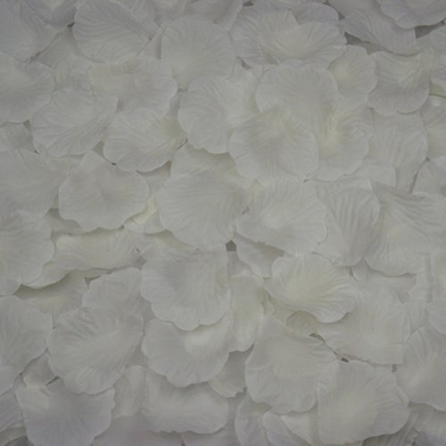 AutoM 1000 PCS Fabric Silk Flower Rose Petals Wedding Party Decoration Table Confetti (Ivory White)