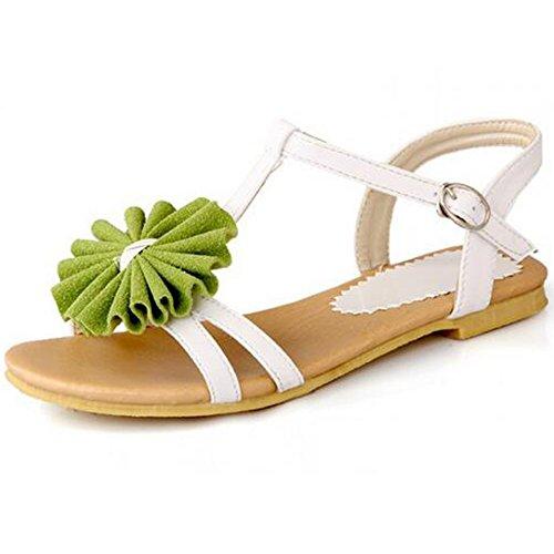 XINRD - Zapatos con tacón mujer Verde