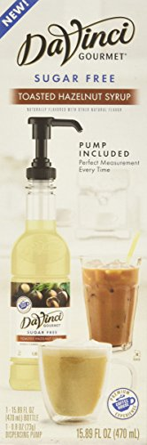 - DaVinci Gourmet Sugar-Free Syrup, Toasted Hazelnut, 15.89 Ounce Bottle with Pump
