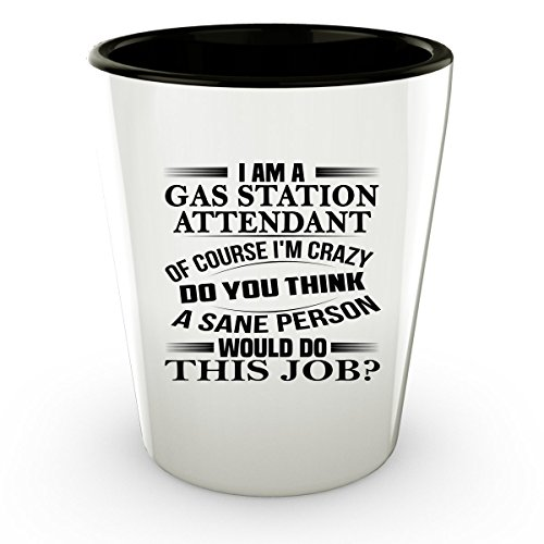 Costume Gas Station Attendant (GAS STATION ATTENDANT Shot Glass - GAS STATION ATTENDANT Gifts - Unique Shot Glass, Coffee Cup)