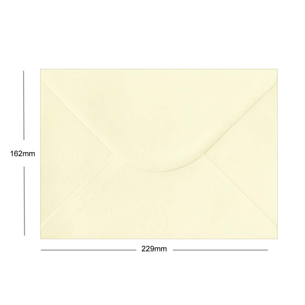 162 mm x 229 mm formato C5 Buste in carta ruvida confezione da 75