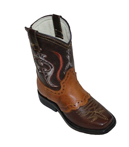 Children Toddlers sizes New Leather Cowboy Boots Animal Print Boots_Cognac_Tan_6