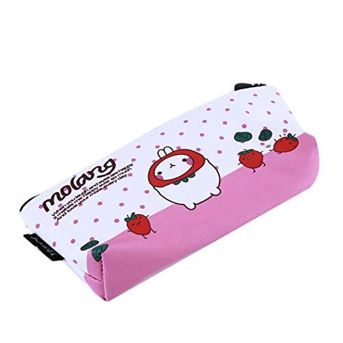LZIYAN Cartoon Rabbit Pencil Case Cute Stationery Storage Bag Waterproof Cosmetic Bag School Supplies For Students,Pink by LZIYAN (Image #2)