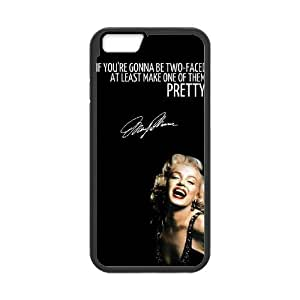 Custom Cover Case with Hard Shell Protection for Samsung Galaxy Note 4 case with Marilyn Monroe Quote lxa#337292