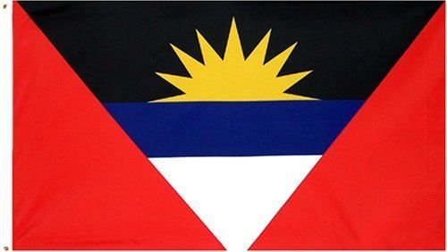 ALBATROS 2 ft x 3 ft Antigua and Barbuda Flag 2x3 House Banner Brass Grommets for Home and Parades, Official Party, All Weather Indoors Outdoors