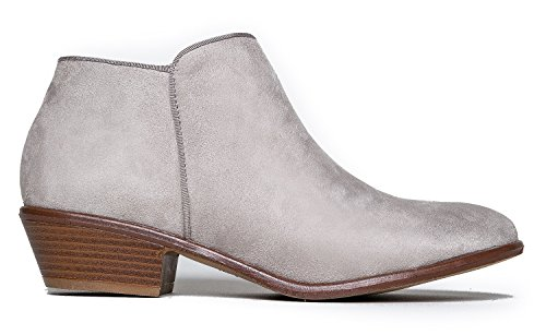 Adams Casual Manny Heel Western Bootie Closed Low Ankle Grey Lexy Suede 01 Stacked Toe J Boot Light wZdnFzfqw