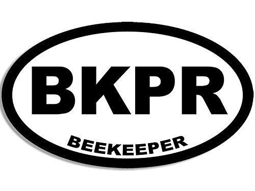 Oval BKPR Beekeeper Sticker (bee keeper honey), beekeeping christmas gift