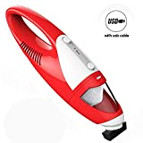 FortuneDragon Car Vacuum,Handheld Vacuums Cordless Car Cleaner Portable Mini Vacuum with One Nozzle, Strong Cyclonic Suction, Rechargeable with Micro USB