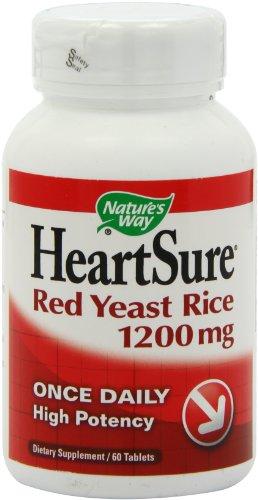 Way HeartSure levure de riz rouge 1200mg de la nature, 60tabs