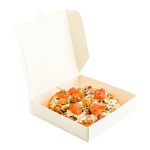 Mini Pizza Box, Mini Square Cardboard Pizza Box, Disposable Pizza Box - White - 3.5