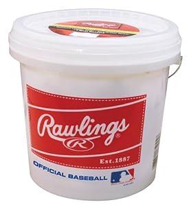 Rawlings Bucket with 2 Dozen ROLB3 Baseballs