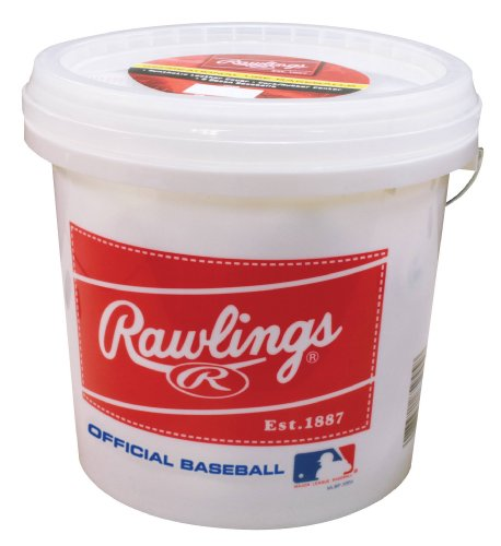 Rawlings Official League Recreational Bucket, Bucket with 24 Baseballs, OLB3BUCK24 by Rawlings
