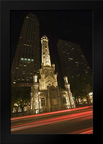 Illinois, Chicago Water Tower on Michigan Avenue Framed Art Print by Flaherty, Dennis