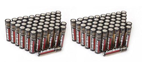 EverBrite 96-Pack Alkaline AAA Battery