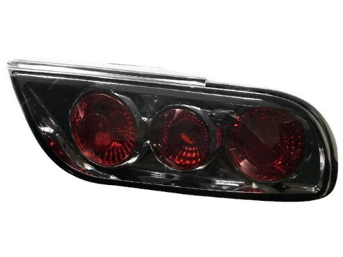 Spyder Auto ALT-JY-N240SX89H-SM Nissan 240SX Smoke Euro Tail Light - 3 Piece