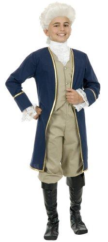 Charades Costumes George Washington Child Costume Blue/Brown Medium (8-10)