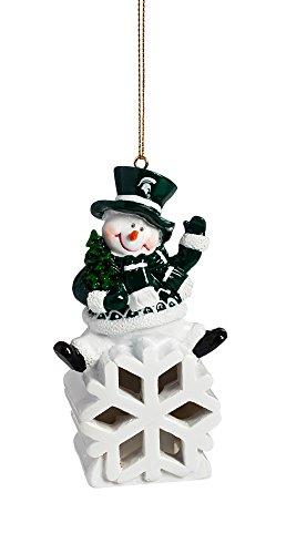 Christmas Tree Store Michigan - Team Sports America Michigan State Spartans Snowman LED Ornament
