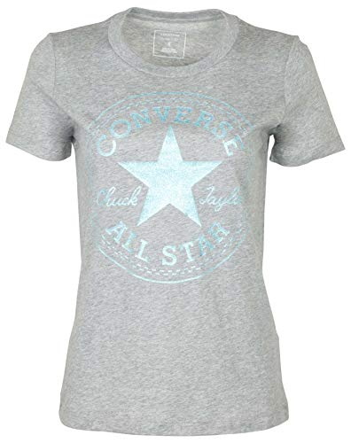 Converse Women's Glitter Chuck Taylor Core Patch T-Shirt-Heather Grey-Medium]()