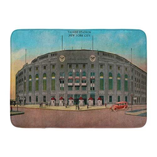 "Coolest Secret Bath Mat Baseball Yankee Stadium Vintage York Bathroom Decor Rug 16"" x 24"""