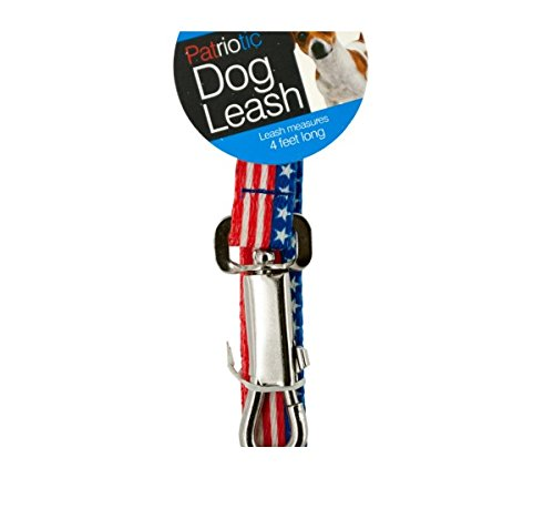 White and Blue Dog Leash 47 Inches Long Kole Patriotic Red