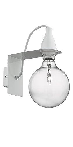 Ideal Lux Da Parete Minimal Ap1 Lampada Metallo Rifinito Bianco