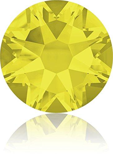 (Swarovski Professional 2088 SS20 Citrine Flat Back Crystal Rhinestone)