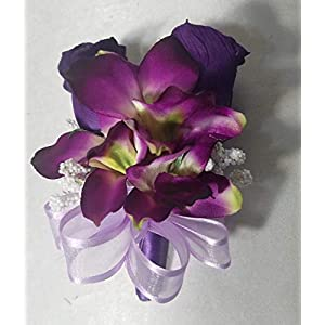 Purple Rose Bud Orchid Corsage or Boutonniere 98