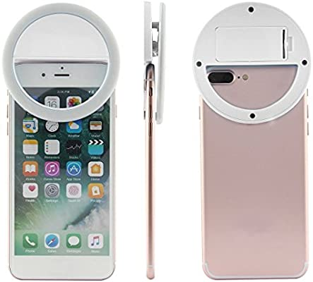 Portátil Selfie LED anillo de Flash luz para cámara de smartphone ...