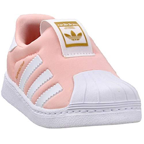 adidas Originals Infant Superstar 360 Sneaker, Clear Orange/White/Gold Metallic, 9K (Orange Adidas Baby)
