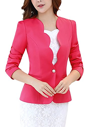 hot pink blazer for women - 6