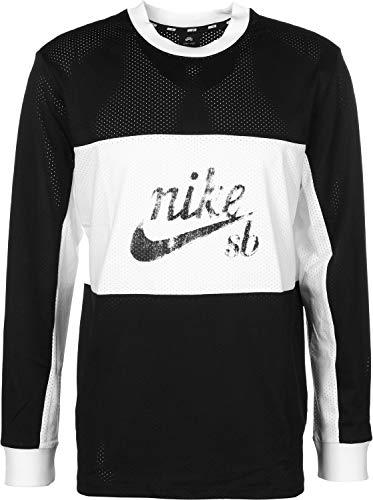 NIKE Mens M NK SB Dry TOP XLM MESH AA1073-010_M - Black/White/Black