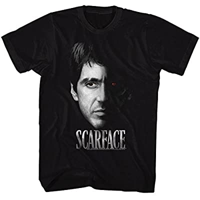 2Bhip Scarface 1980's Gangster Crime Movie Al Pacino Tony Montana Face Adult T-Shirt