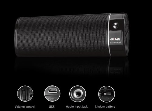 """""""Axxis Rechargeable Speaker for Sd Card Reader, Iphone and Ipod, Netbook, Pc, Mp3, Mp4 and Mobile Phone"""