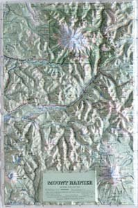 American Educational Products Raised Relief Map 408 Mt. Rainier National Park