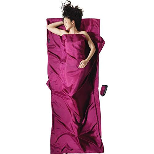 Image of Blankets Cocoon Silk Travelsheet - Mulberry Red