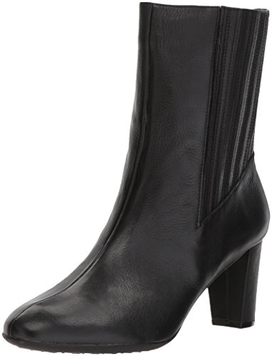 5th Black Leather (Aerosoles Women's Fifth Ave Mid Calf Boot, Black Leather, 7 M US)