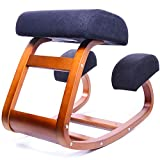 Ergonomic Kneeling Chair | Balans Posture Correcting Wooden Stool for Office & Home