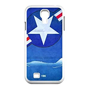 J-LV-F Customized Captain America Pattern Protective Case Cover Skin for Samsung Galaxy S4 I9500