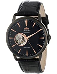 Orient Mens FDB08002B Esteem Stainless Steel Automatic Watch with Black Leather Band