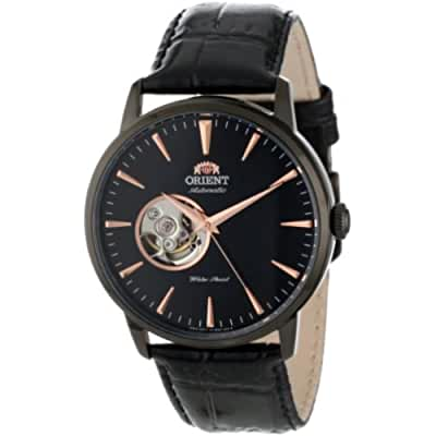 Orient Men's FDB08002B Esteem Stainless Steel Automatic Watch with Black Leather Band