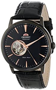 """Orient Men's FDB08002B """"Esteem"""" Stainless Steel Automatic Watch with Black Leather Band"""