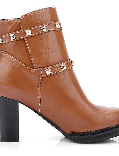 gros Talon Chaussures Cn41 noir Brown Mode Uk7 Décontracté us9 Xzz Habillé Rouge Marron Arrondi bureau À Bottes Bout La Femme Travail amp; Eu40 bottine PWH0qgvdw