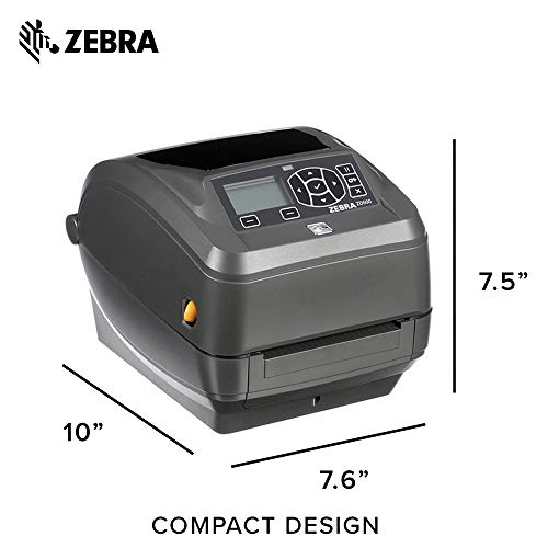Zebra - ZD500t Thermal Transfer Desktop Printer for Labels and Barcodes - Print Width 4 in - 300 dpi - Interface: Ethernet, Parallel, Serial, USB - ZD50043-T01200FZ by Zebra Technologies (Image #5)