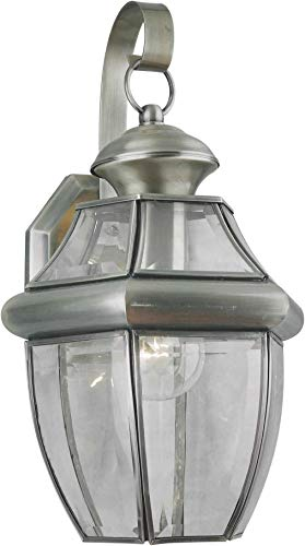 Forte Lighting 1201-01 Outdoor Wall Sconce from the Exterior Lighting Collection, Antique Pewter 01 Exterior Wall Sconce